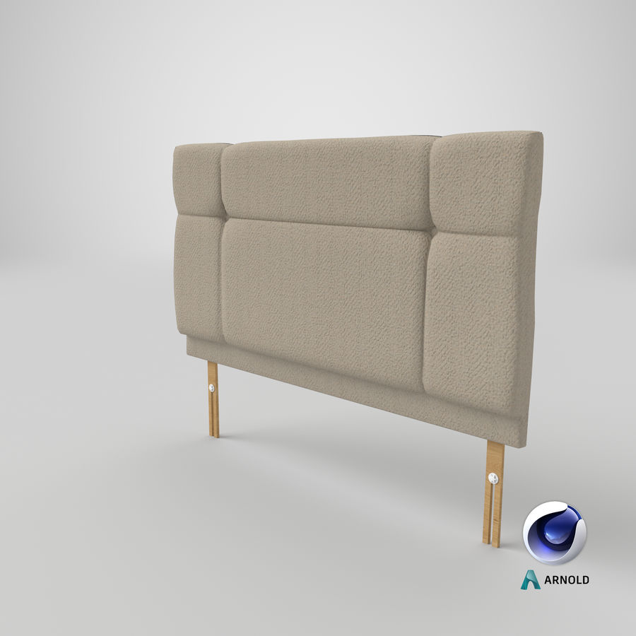 Headboard 13 Oatmeal royalty-free 3d model - Preview no. 23