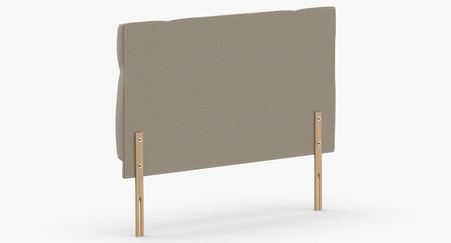 Headboard 13 Oatmeal royalty-free 3d model - Preview no. 6