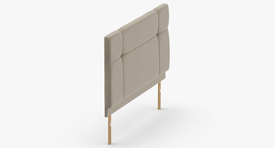 Headboard 13 Oatmeal royalty-free 3d model - Preview no. 4
