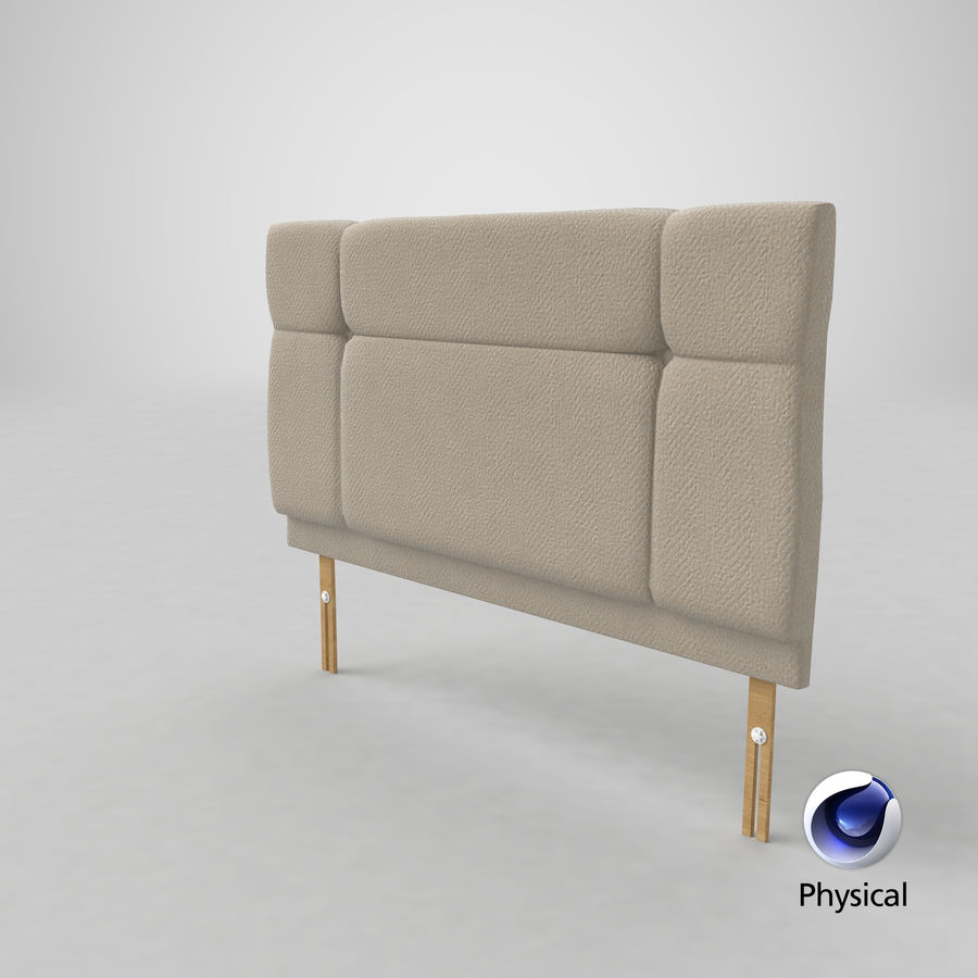 Headboard 13 Oatmeal royalty-free 3d model - Preview no. 22