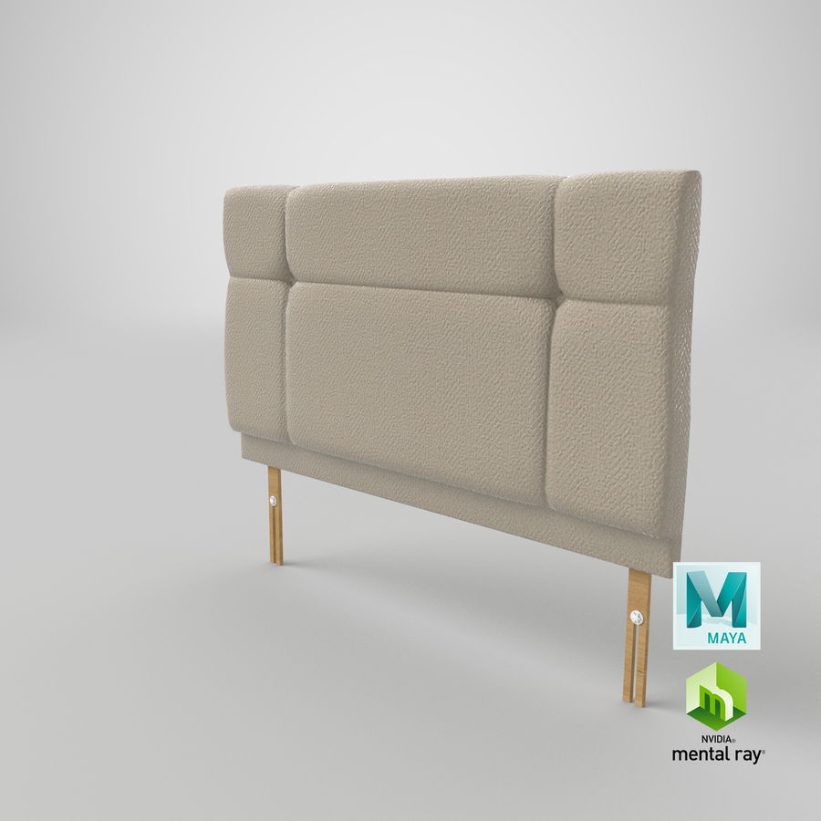 Headboard 13 Oatmeal royalty-free 3d model - Preview no. 28