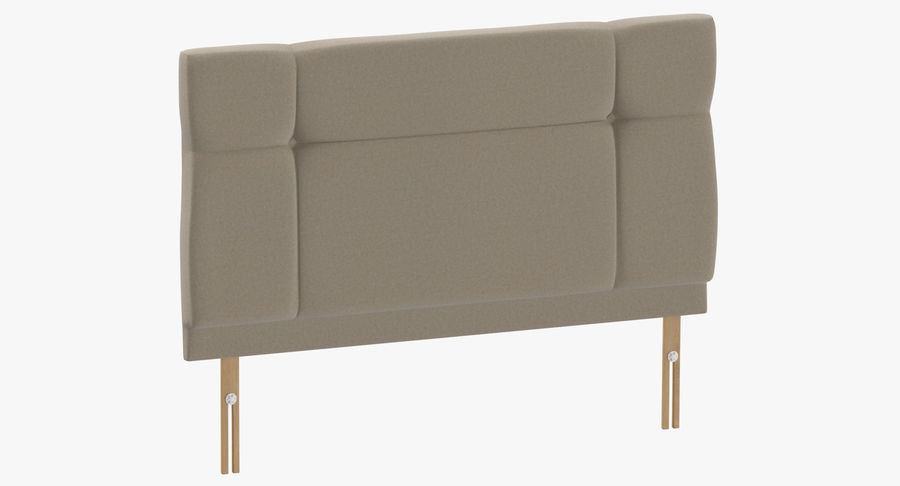 Headboard 13 Oatmeal royalty-free 3d model - Preview no. 2