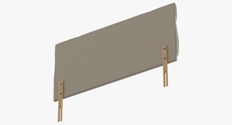 Headboard 13 Oatmeal royalty-free 3d model - Preview no. 8