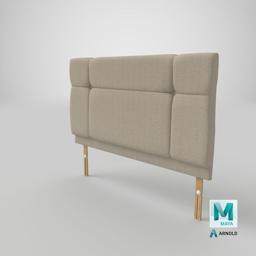 Headboard 13 Oatmeal royalty-free 3d model - Preview no. 27