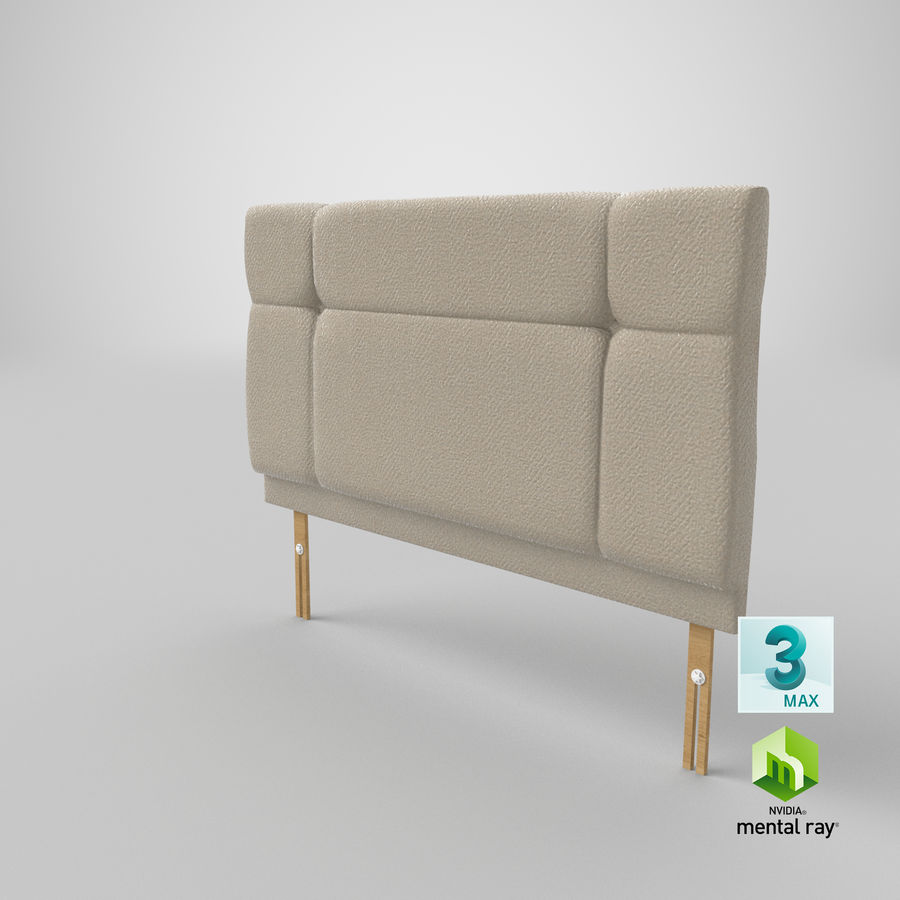 Headboard 13 Oatmeal royalty-free 3d model - Preview no. 25