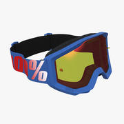 100 strata skyddsglasögon blå 3d model
