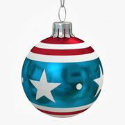 Bandera americana de bolas de navidad modelo 3d