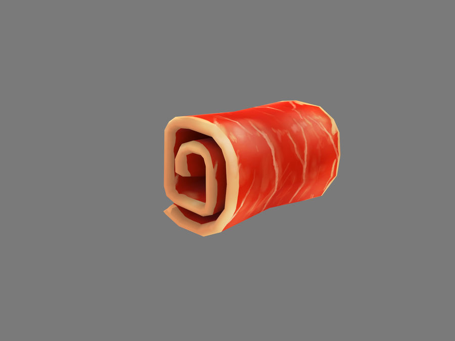Bacon royalty-free 3d model - Preview no. 4
