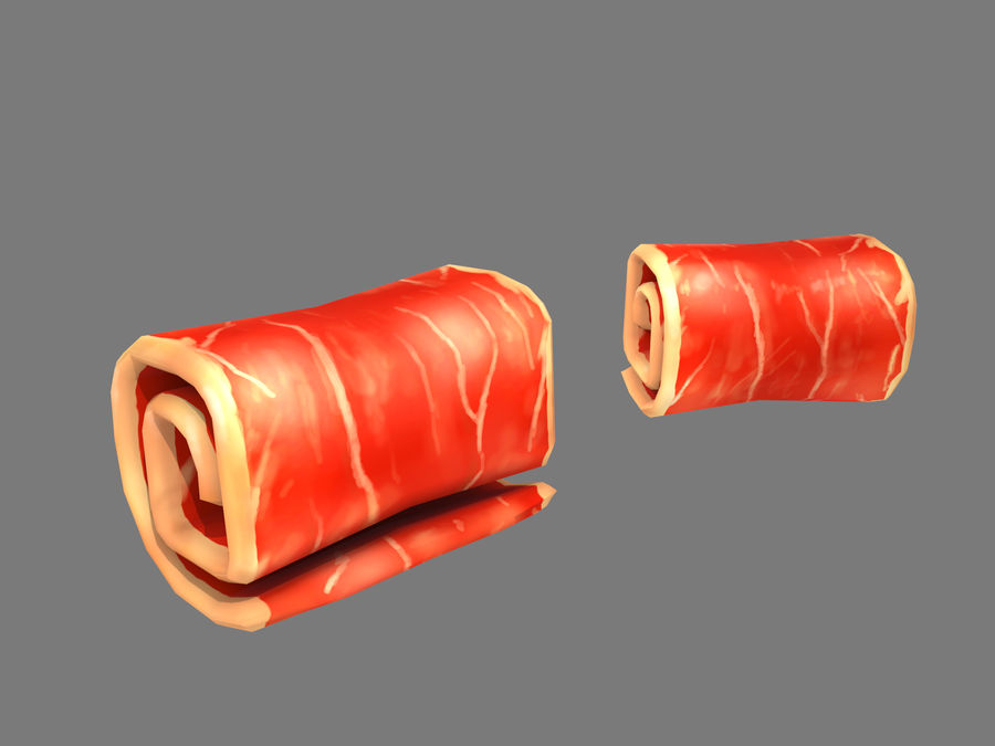 Bacon royalty-free 3d model - Preview no. 7