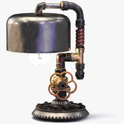 Steampunk-lampa 3d model