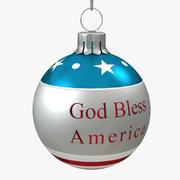 Amerikanische Weihnachtskugel segnen 3d model