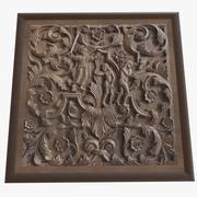 Sculpture sur bois 3d model