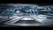 Sci Fi Hangar Interior - game ready 3d model