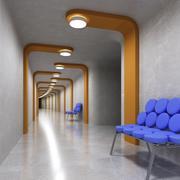 Diseño del corredor modelo 3d