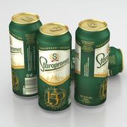Beer Can Staropramen 150 Anniversary Edition 500ml 2019 3d model