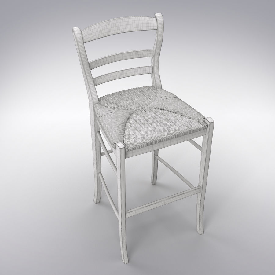 Bar stool royalty-free 3d model - Preview no. 6