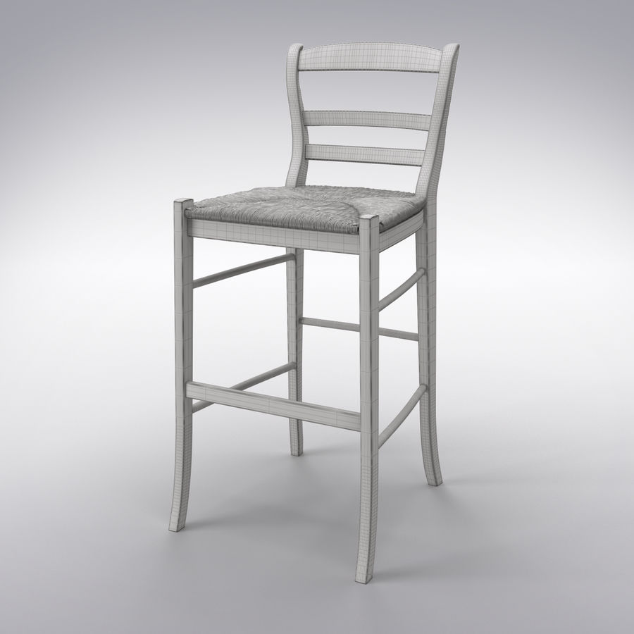 Bar stool royalty-free 3d model - Preview no. 2