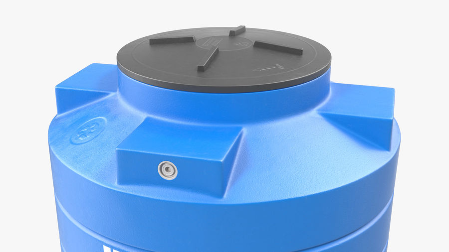 Plastic wateropslagtank 600L royalty-free 3d model - Preview no. 6