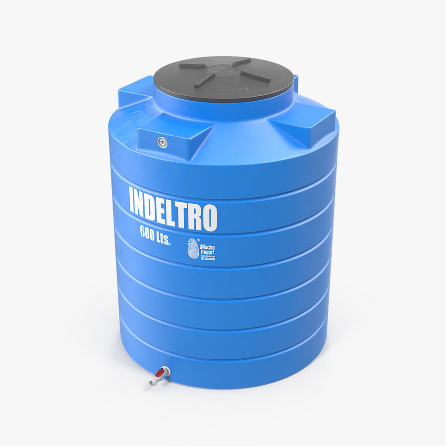 Plastic wateropslagtank 600L royalty-free 3d model - Preview no. 1
