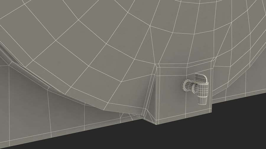 Water Storage Tank 1300L royalty-free 3d model - Preview no. 20