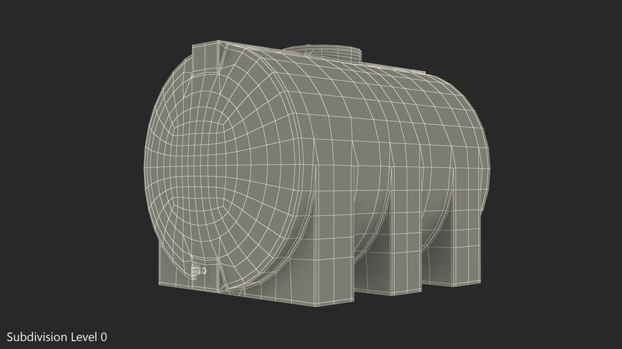Water Storage Tank 1300L royalty-free 3d model - Preview no. 11