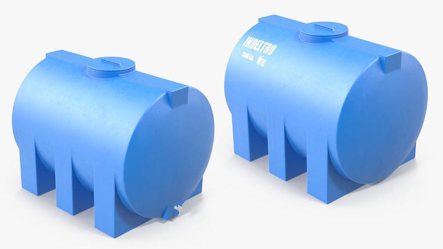Water Storage Tank 1300L royalty-free 3d model - Preview no. 7