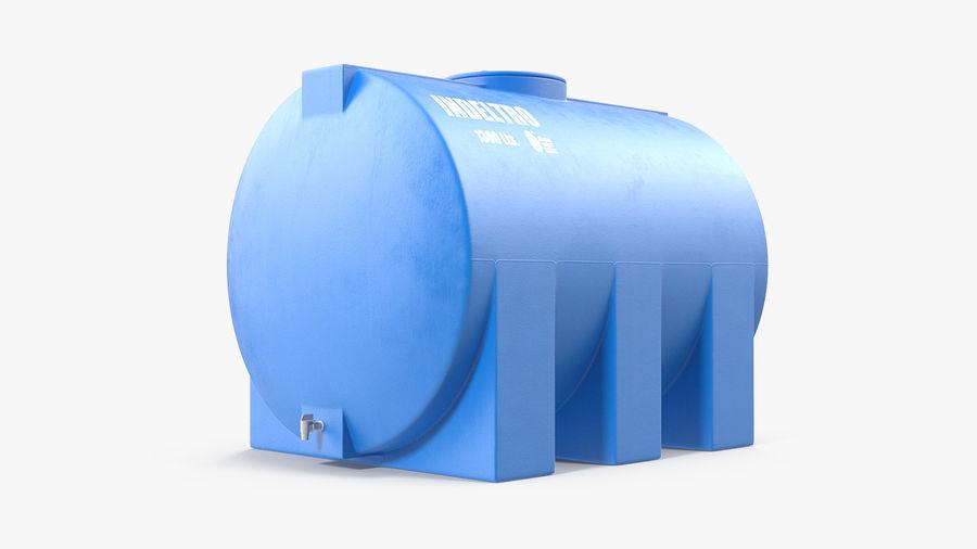 Water Storage Tank 1300L royalty-free 3d model - Preview no. 4