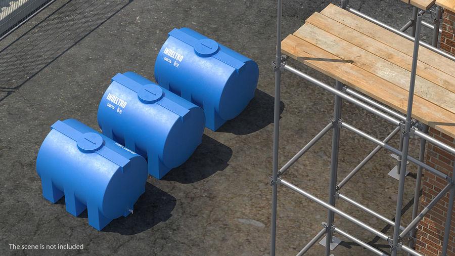 Water Storage Tank 1300L royalty-free 3d model - Preview no. 2