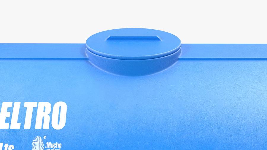Wateropslagtank 1300L royalty-free 3d model - Preview no. 8