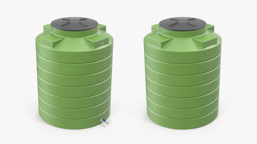 Grote plastic wateropslagtank royalty-free 3d model - Preview no. 9