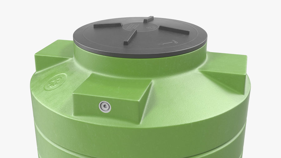 Grote plastic wateropslagtank royalty-free 3d model - Preview no. 6