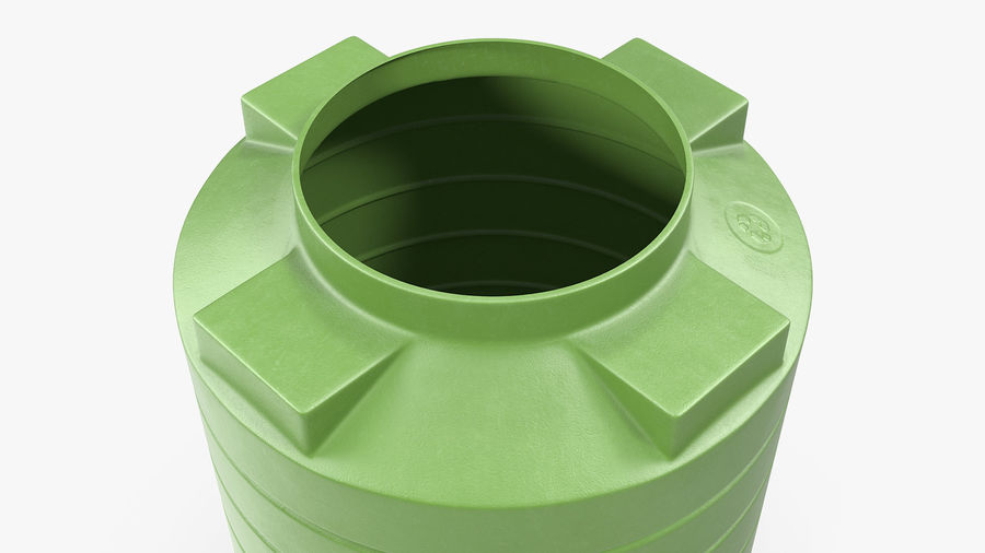 Grote plastic wateropslagtank royalty-free 3d model - Preview no. 7