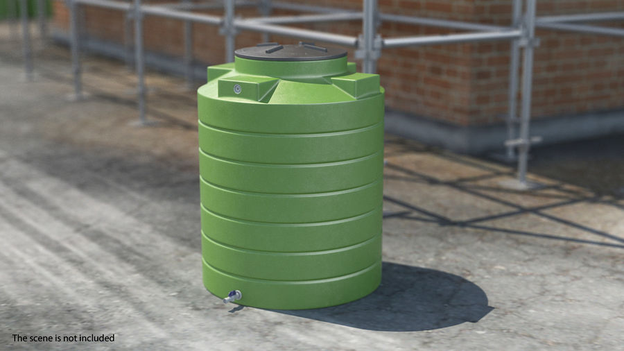 Grote plastic wateropslagtank royalty-free 3d model - Preview no. 4