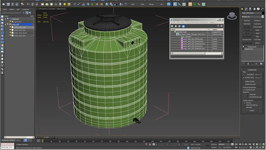 Grote plastic wateropslagtank royalty-free 3d model - Preview no. 15