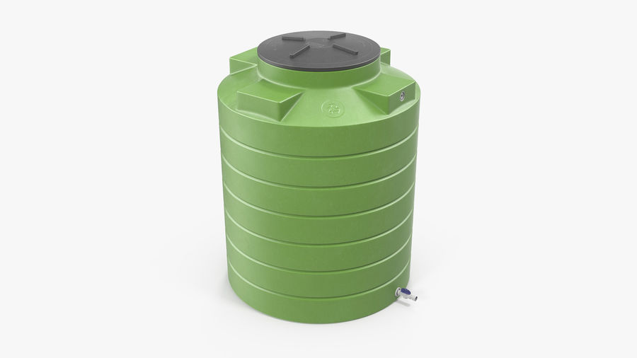 Grote plastic wateropslagtank royalty-free 3d model - Preview no. 2