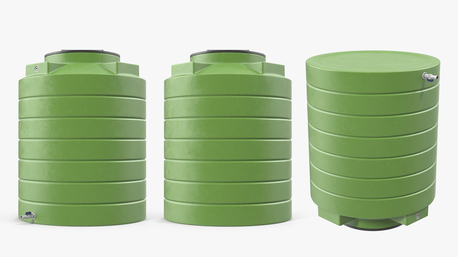 Grote plastic wateropslagtank royalty-free 3d model - Preview no. 5