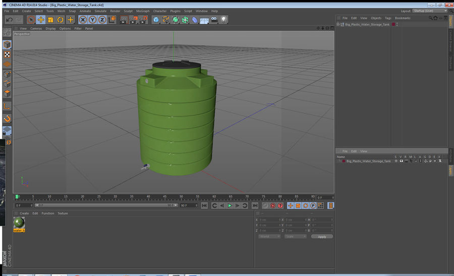 Grote plastic wateropslagtank royalty-free 3d model - Preview no. 14