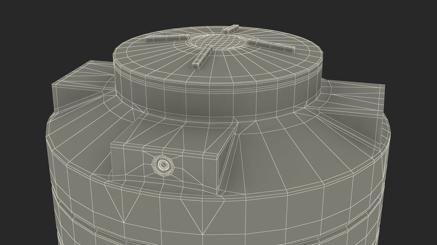 Grote plastic wateropslagtank royalty-free 3d model - Preview no. 18
