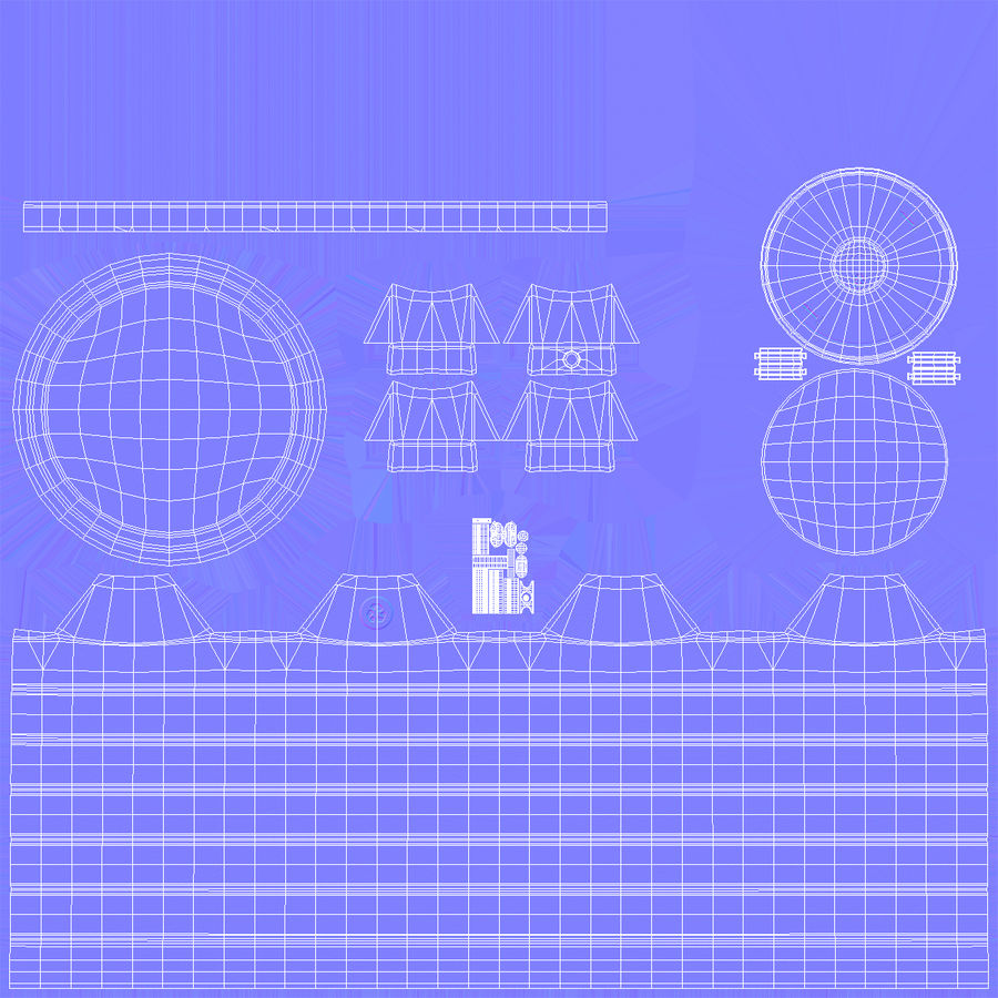 Grote plastic wateropslagtank royalty-free 3d model - Preview no. 12