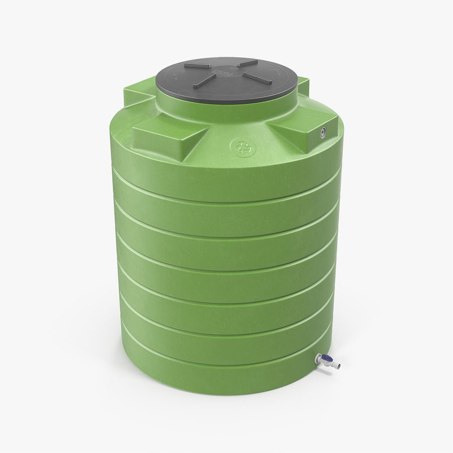 Grote plastic wateropslagtank royalty-free 3d model - Preview no. 1
