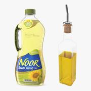 Collezione di bottiglie di olio d'oliva 3d model