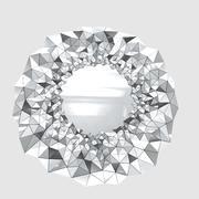 Wandspiegel Modernes Design 3d model