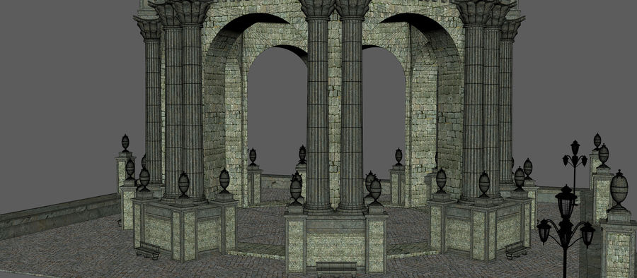 Classic Dome Structure royalty-free 3d model - Preview no. 11