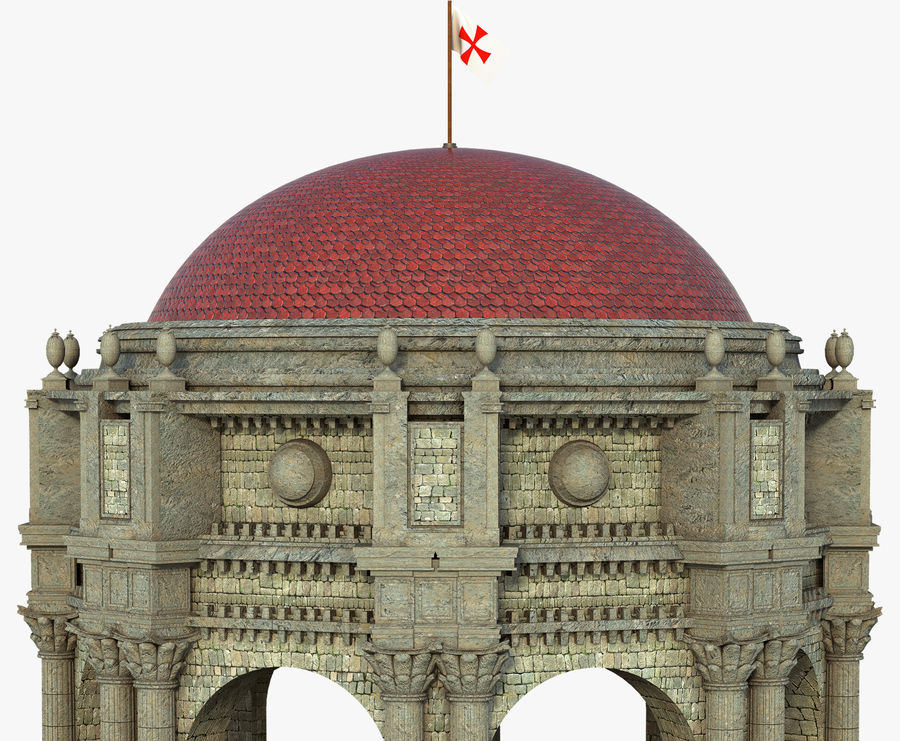 Classic Dome Structure royalty-free 3d model - Preview no. 4