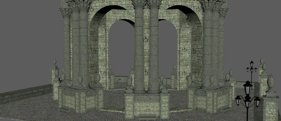 Classic Dome Structure royalty-free 3d model - Preview no. 9
