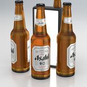 Garrafa de Cerveja Asahi 500ml 2019 3d model