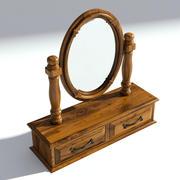 Victoriaanse bureauspiegel oud natuurlijk 3d model