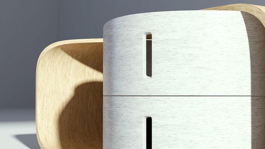 现代木制咖啡桌 royalty-free 3d model - Preview no. 6