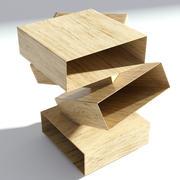 Houten nachtkastje modern 3d model
