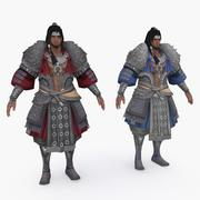 China medieval personaje 012 modelo 3d